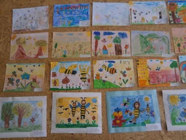 "Детски рисунки, участници в конкурса на ОДЗ ""Пчелица"""